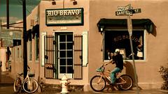 Santa Fe (ValterB) Tags: 2012 nikond90 usa roadtrip roadtripusa shop bike store riobravo cowboy indian door window valterb