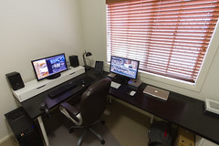 Workspace (-spam-) Tags: desktop green ikea apple diy office mac desk macmini workspace compu macbook macbookpro