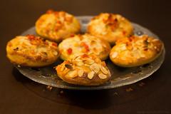 Plum buns (Explodingfish) Tags: christmas baking diy almond plum plate homemade bun marmalade