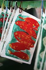 08950029-16 (jjldickinson) Tags: wood red green print cherry carving longbeach card printmaking wrigley olympusom1 woodblock fujicolorsuperiaxtra400 mokuhanga laserengraving promastermcautozoommacro2870mmf2842 promasterspectrum772mmuv roll395