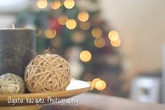 Christmas candle (Agata Vzquez) Tags: christmas tree season arbol lights navidad luces candle bokeh decoration arbre nadal llums decoracion espelma aveto avet