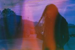 (Luca Tabarrini) Tags: morning sea portrait italy woman color film girl analog 35mm eos mujer eyes italia chica femme longhair analogue expired ritratto 100asa ragazza ancona portonovo pellicola colorfilm analogico 1000f canon1000f lucatabarrini konicaminoltasxg100 dishwashed