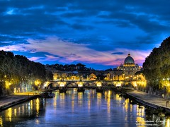 Sant'Angelo Bridge (Maurizio Crespi) Tags: italy rome roma canon powershot s95 60225mm