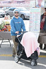 Jack Osbourne and baby Pearl Osbourne spend the day the farmers' market Los Angeles, California