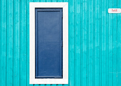 Iviit (claustral) Tags: wood blue detail building sign construction panel geometry turquoise greenland hatch d800 strict iviit