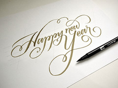 Happy new year! (Jackson Alves) Tags: typography curitiba lettering calligraphy greetingcard tipografia caligrafia feliz2013