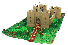 Clattenburg Castle, Normandy, France (peggyjdb) Tags: castle lego knights arrows catapult jaundice seige