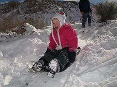 On the bunny slope (Four Straites) Tags: snow reagan sledding bishop intake2