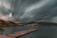 Nautical Club of Kastoria - Greece (Nick-K (Nikos Koutoulas)) Tags: lake rain club clouds greece nautical kastoria