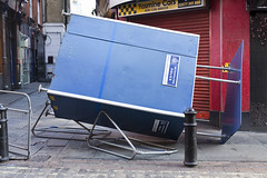Police Box (Jhy Turley) Tags: street uk blue england colour london stand colours unitedkingdom box police toppled londonstreets knockedover pushedover vandelised