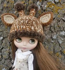 Crocheted Giraffe Hat