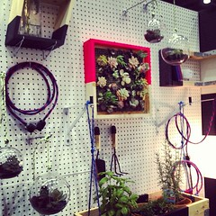 A different way to show off your plants at Shelter Black booth. (Yahoo! Homes) Tags: dod2012 dwellondesign2012