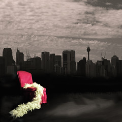 I am ... I said (paloetic) Tags: project chair sydney feather australia obsession boa nsw conceptual aus cityskyline redchair selectivecolouring chezette
