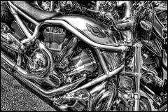 HD Chrome (tebographics) Tags: bw nikon harley chrome sarasota hd hdr thunderonthebay d7000
