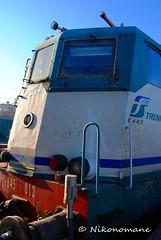 Old Train (4) (Nikonomane) Tags: old italy train vintage de reflex nikon italia fotografia chemin fs fer 1960 stato trenitalia treni dello vecchi ferrovie 2013 locomotore d3000 nikonomane ilnikonomane