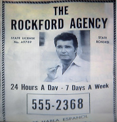 The Rockford Files Yellow Pages AD 0539 (Brechtbug) Tags: show california fiction portrait eye television yellow illustration gum private shoe james 1974 tv los day angeles pages drawing ad screen crime 200 files 70s plus pulp 1970s grab pilot episode gardner rockford dollars shamus detective the expenses