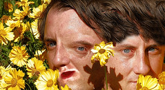 Twins (gulgulas) Tags: flowers eye face look mouth nose mirror petals twins eyes image shy proportion abnormal timid