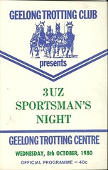 Geelong Trotting Race Book October 8 1980 (AS 1979) Tags: geelong corio racebook beckleypark geelongharnessracingclub 3uz geelongtrottingclub