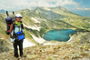 The Blue lake (.:: Maya ::.) Tags: park mountain man nature trekking hiking unesco bulgaria national природа pirin планина българия езеро пирин трекинг mayaeye mayakarkalicheva маякъркаличева тевно синьото василашко