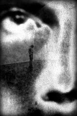 stuck in you (bostankorkulugu) Tags: blackandwhite bw man black reflection eye art monochrome face silhouette closeup museum modern nose photography photo blackwhite europe alone contemporary modernart kunst exhibition muse moderne museo luxembourg bostanci luxemburg duchy bostan korkut katharinasieverding ltzebuerg mudam granddukejean bostankorkulugu stuckinyou