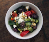 keeper greek salad (you can count on me) Tags: vegetables dill greek salad dressing vegetarian olives peppers onion cucumbers feta vinaigrette cukes poppytalk