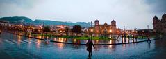 lluvia en plaza principal de cusco (Ricardo V. Guevara C.) Tags: plaza lluvia cusco catedral