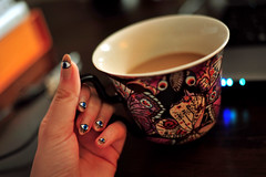 fav nail art with fave coffee cup (Caisa Jrgenson) Tags: eye coffee coffeecup evil nails evileye nailart evileyes naildesign