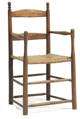 5. Antique Southern Split Wood Chair