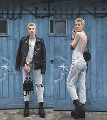 Valley girls by Hanna W., Fashion blogger on behindhermaskblog.com from Switzerland (9lookbook.com) Tags: 60s 90s acidwash ankleboots backpack behindhermask behindhermaskblog bikerboots bikerjacket blackboots body bodychain bodysuit boyfriendjeans distressedjeans eraboots graffiti grunge hannaw harness jeans jeansjacket lookbookxvalleyhigh menclothing menswear metroboutique minimal necklace onepiece platform platformboots publicdesire rebel regalrose rippedjeans rivet rock rockabilly shorthair sporty street streetchic summer switzerland tomboy unif unisex urban vallesgirl valley
