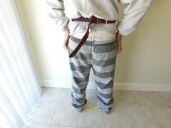 White Jail Sweatshirt (boblaly) Tags: belt handcuffs handcuffed cuffed cuffs chain shackles shackled prison prisoner inmate jail detention white stripes black