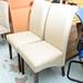 Cream leatherette chair