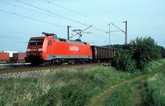 152 087  bei Ulm  10.05.07 (w. + h. brutzer) Tags: ulm eisenbahn eisenbahnen train trains deutschland germany railway elok eloks lokomotive locomotive zug 152 db webru analog nikon
