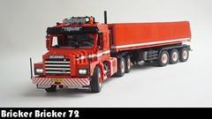 RC lego truck T13 Scania T143M + Bulthuis dump / tip trailer (bricker bricker 72) Tags: rc lego legoworld ingmar spijkhoven scania e h m 112 113 143 t torpedo european volvo v8 super iveco renault daf mercedes australian road train side tip kip tipper kipper dump trailer bulthuis 6x4 tractor technic truck 18wheeler 18 wheeler 5th wheel xl l motor 42043 8258 8285 set afol instruction ballast brickerbricker72 bricker 72 big rig model built scale sbrick semi remote controle moc power functions lkw hitch roadtrain t13