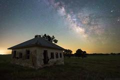 A Kansas Dream (Erik Johnson Photography) Tags: purple kansa kansas astrophotography astro milky way night sky long exposure building home house dream midwest