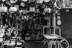 In the market  / this one is not for sale (zgr Grgey) Tags: 2016 24120mm bw d750 flickrfriday nikon basket indoor loneliness market shop street wood istanbul turkey candid