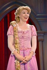Tangled show at the Fantasy Faire Royal Theater in Disneyland (GMLSKIS) Tags: disney california amusementpark anaheim fantasyfaire theroyaltheater tangled princess rapunzel disneyland royaltheatre