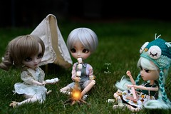 Soire au camping. (Juju DollPassion) Tags: pullip dolls custom custo ddalgi nanachan prunella staging camping