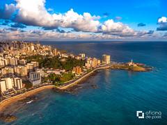 Farol da Barra. Salvador - Bahia. (Anselmo Garrido) Tags: ngc drone phantom praia faroldabarra farol barra salvador bahia brazil beach teal mar oceano