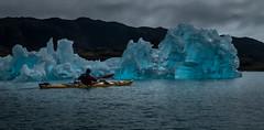 Kayaking with the ice (Frank Busch) Tags: frankbusch frankbuschphotography imagebyfrankbusch photobyfrankbusch blue greenland ice iceberg john kayaking kayaks ocean paddling southgreenland wwwfrankbuschname