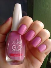 Amo, no nego - Colorama (Mari Hotz) Tags: rosa esmalte colorama gioantonelli unha