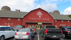 county line orchard. 2015 (timp37) Tags: october 2015 indiana county line orchard sign buidling barn