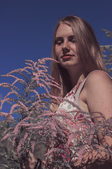 (miriam gangemi) Tags: girl people person portrait photo portraitphotography thisphotorock outdoor plants pastels day sun sunny youth young chill flower flowers friend friends pink happy peace peaceful