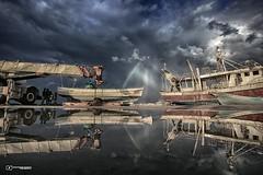 #Gaza #Reflection ... (TeamPalestina) Tags: gaza palestine photgraphy lifestyle life marvellous frame love hope happiness beachlife beaches landscape seascape sea waves sunset sunsetlovers sky clouds photographer sunsets