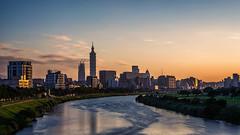 Taipei silhouette (hamzaqayyum) Tags: river reflection taiwan asia sigma nikon sunset