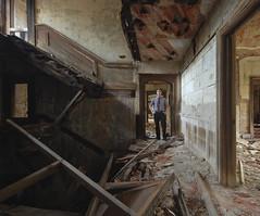 Open Floor Plan (jgurbisz) Tags: jgurbisz vacantnewjerseycom abandoned nj newjersey mansion decay portrait openfloorplan suit house collpased