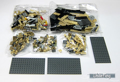 The building parts (WhiteFang (Eurobricks)) Tags: lego architecture set landmark country buckingham palace victoria elizabeth royal royalty family crown jewel imperial statue tourist united kingdom uk micro bus taxi