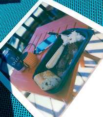 summers end (rockpowered) Tags: analog film scanner impossibleproject impossible instant color sx70 ribs summer amsterdam beer 3speed lager laborday pickle strubbs