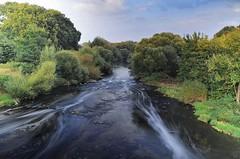 the river (hobb_zhao) Tags: river flus nature natur landschaft landscape green tree bume grn water wasser bach germany hobb sky himmel