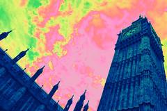 COLOR (florencia mele fabris) Tags: big ben palace westminster house parliament london uk color nikon recolored bigben clock colours