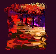 """Gust"" (donnacoburn1) Tags: sketching drawing painting digitalartwork digitalart stylus nature seasonal fall safe public apple ipad colours colourful colour original creative mobileart mobile artrage art image"